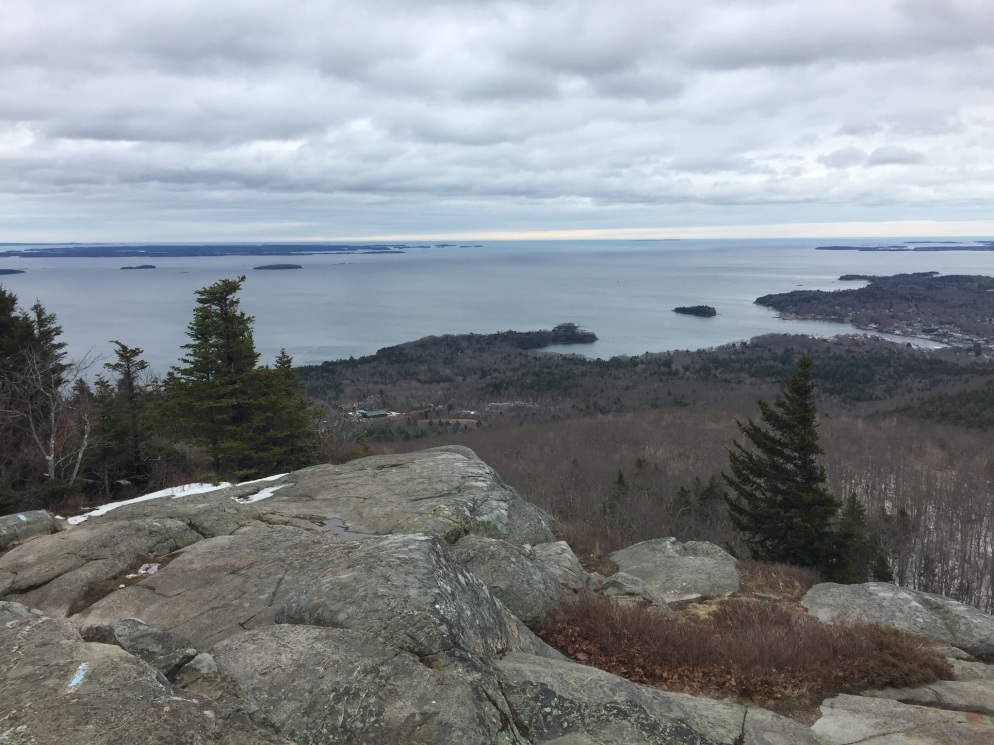 Camden Harbor and West Penobscot Bay from Mount Megunticook