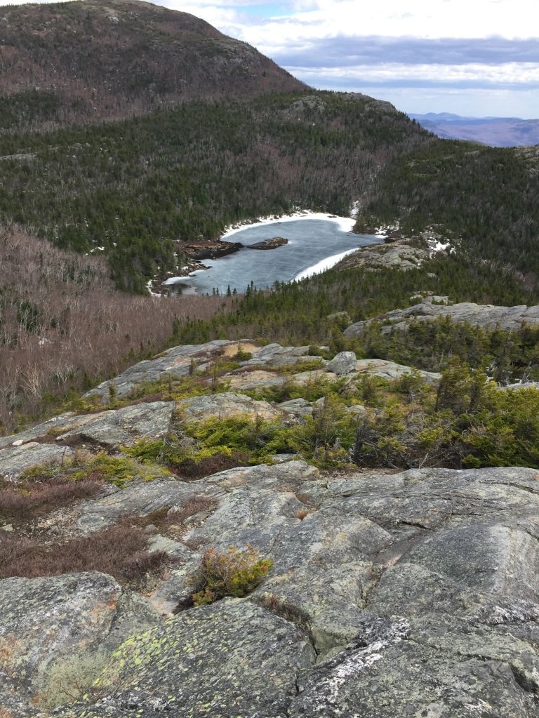 View of Tumbledown Pond, a tarn on Tumbledown Mountain, Weld, Maine.