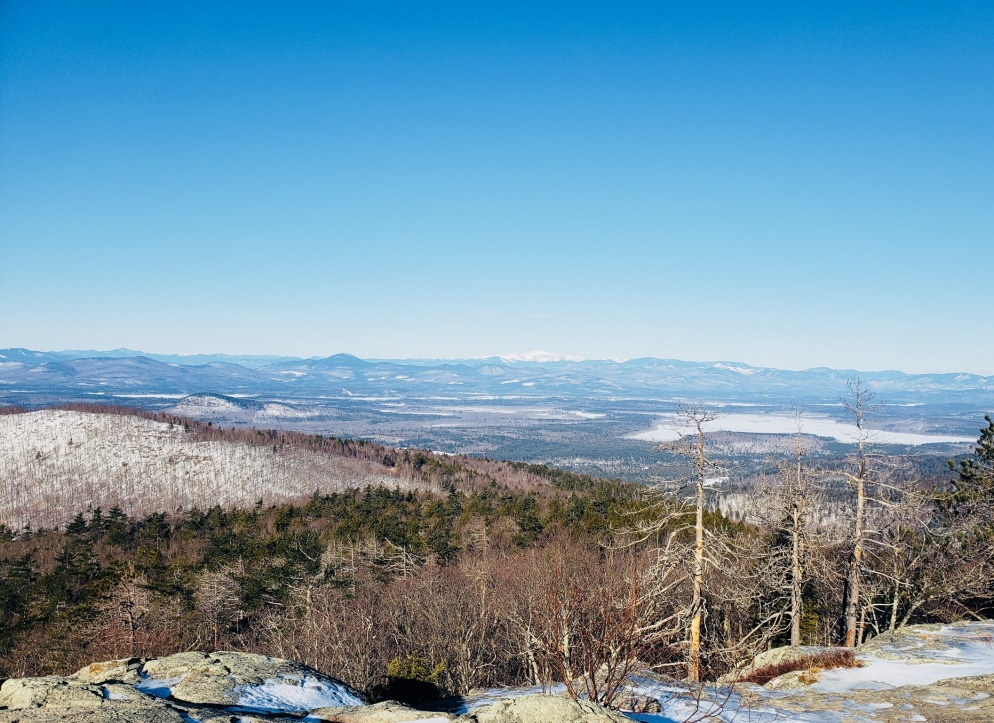 View of the White Mountains from Pleasant Mountain main summit