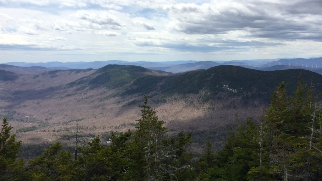 View from Tumbledown Mountain, West Peak, Weld, Maine.