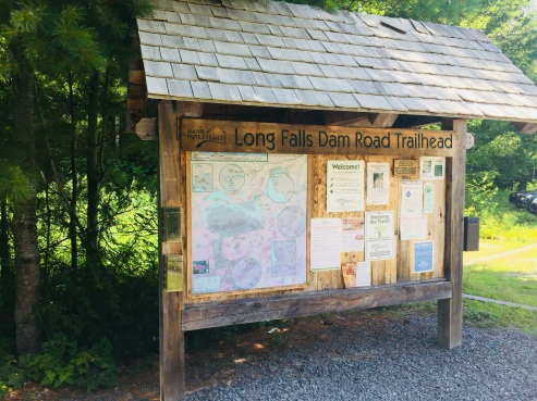 Trailhead on Long Falls Dam Road