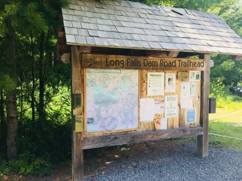 Trailhead on Long Falls Dam Road