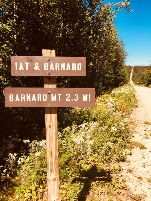 The IAT and trail to Barnard Mountain