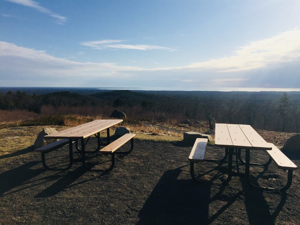 Picnic Tables, First Hill, Mount Agamenticus