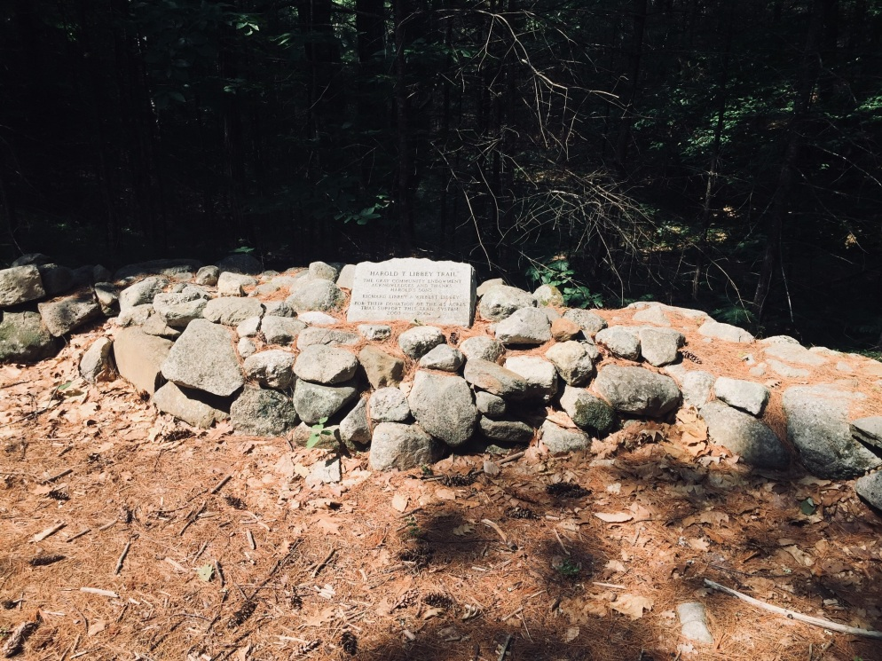 Harold Libbey Memorial, Libby Hill Forest, Gray, Maine