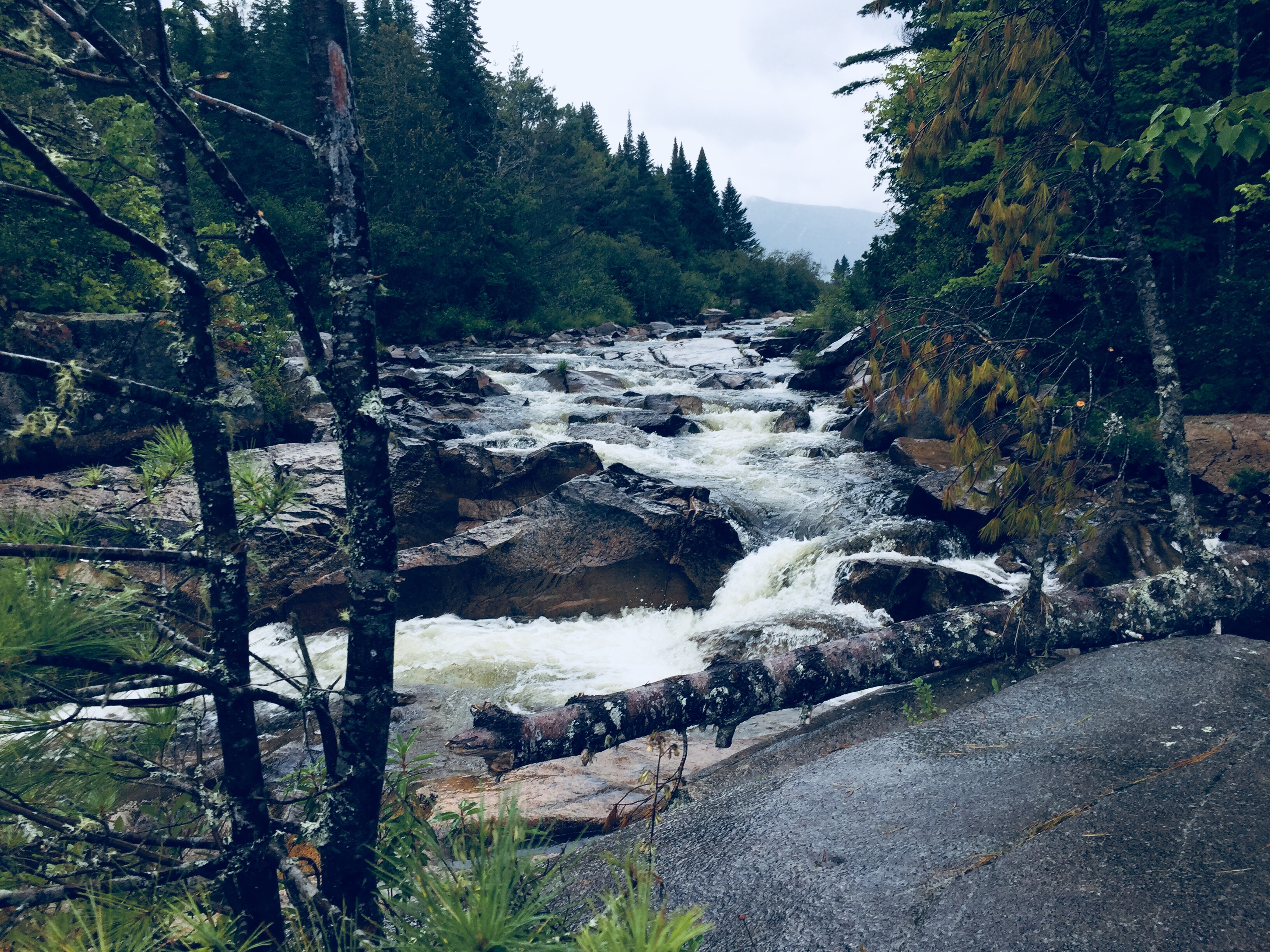 Little Niagara Falls, Appalachian Trail in Baxter State Park