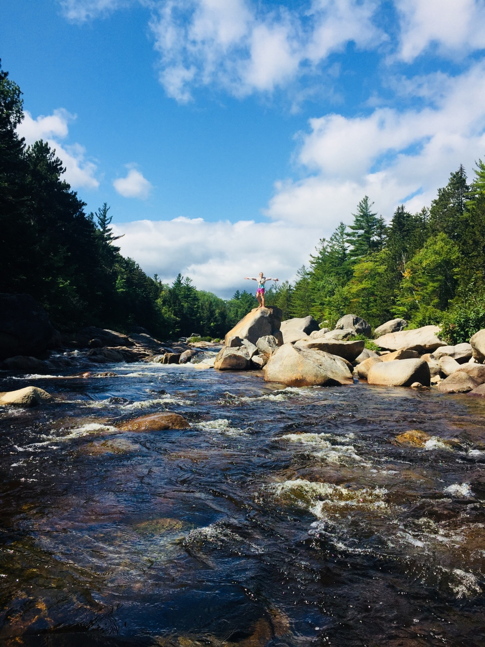 Orin Falls in Katahdin Woods and Waters National Monument, Maine.