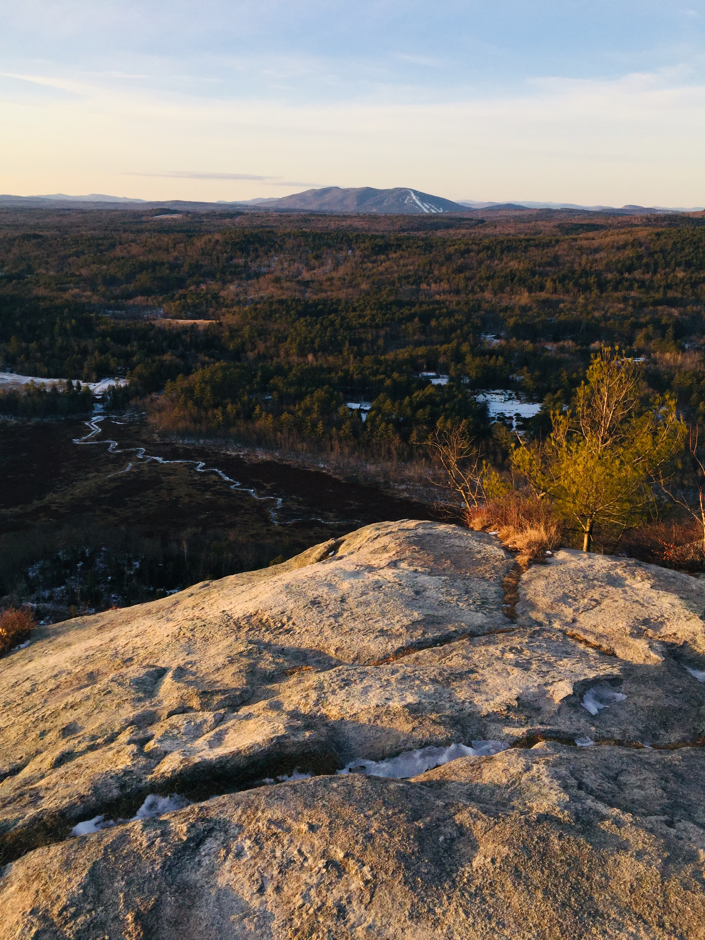 Pleasant Mountain and the Oxford Hills from Hawk Mountain, Waterford, ME