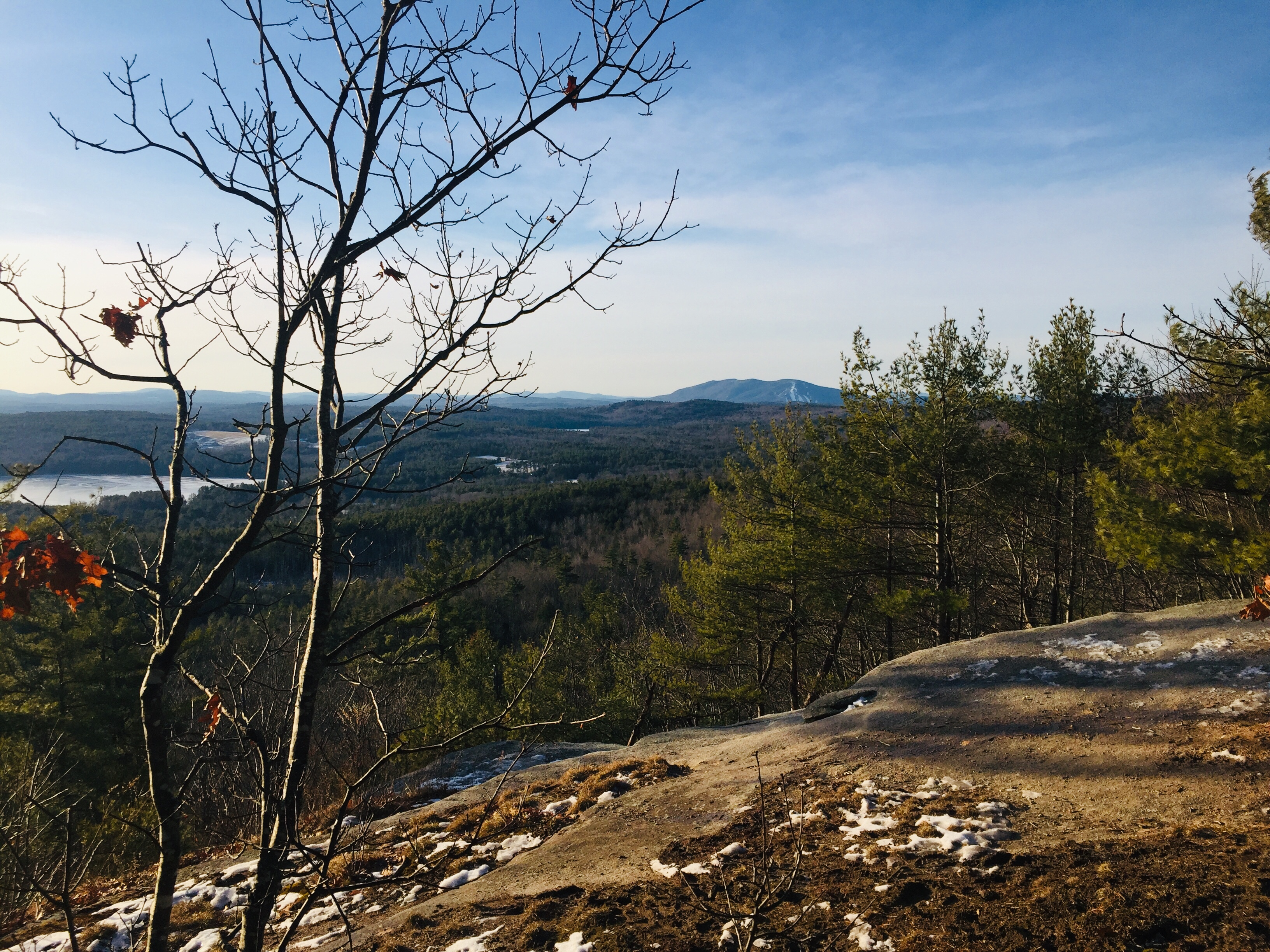 Views from Mount Tire'm, Waterford, Maine, including Pleasant Mountain and Shawnee Peak.