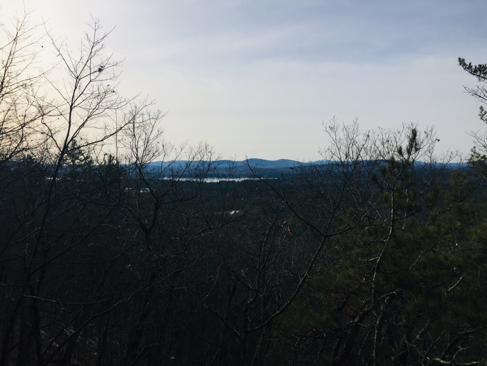 View south from West Ridge Trail, Mount Tom, Fryeburg, Maine.