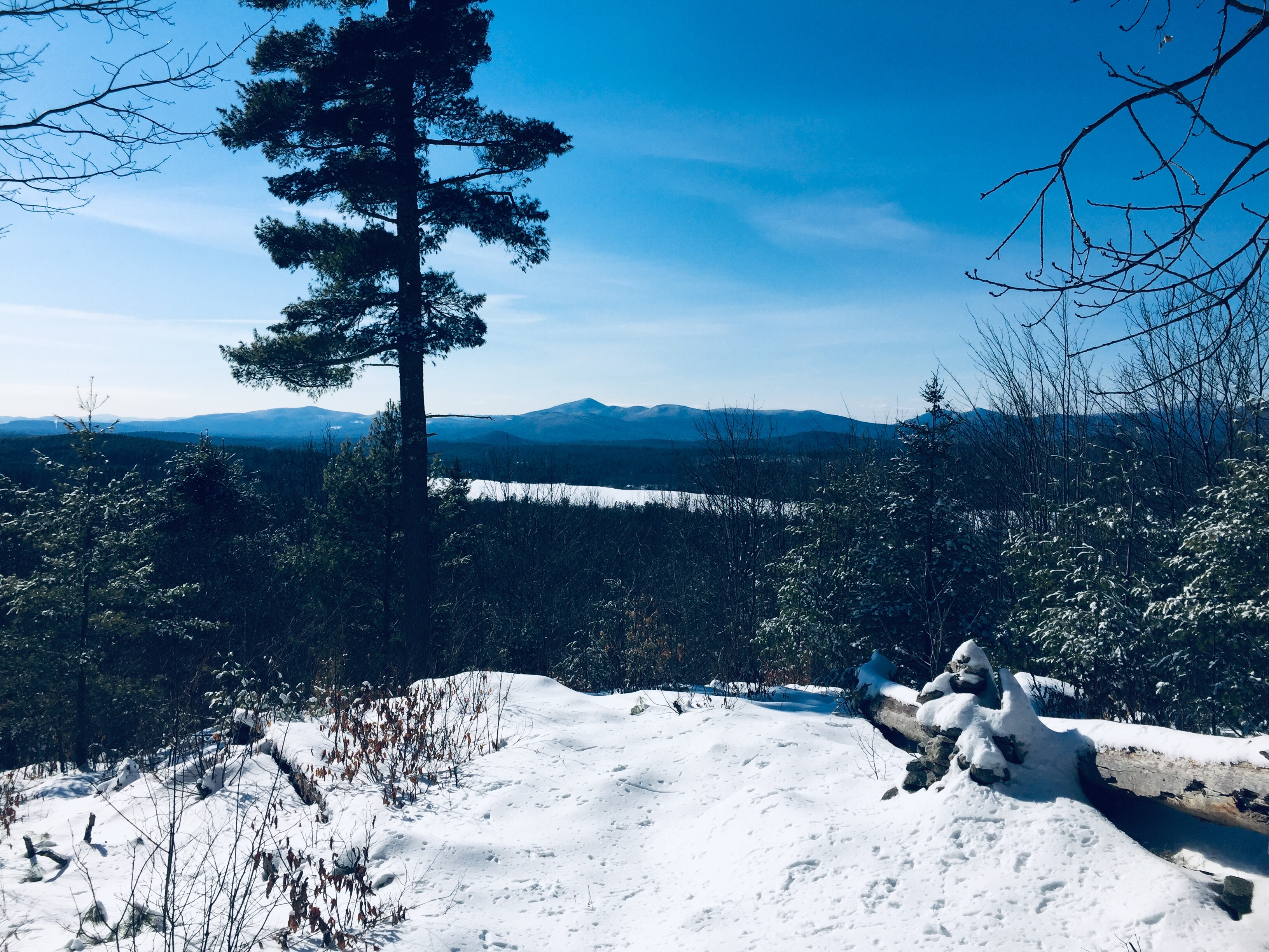 Kezar Lake and the Whites from Whiting Hill summit, Lovell, ME