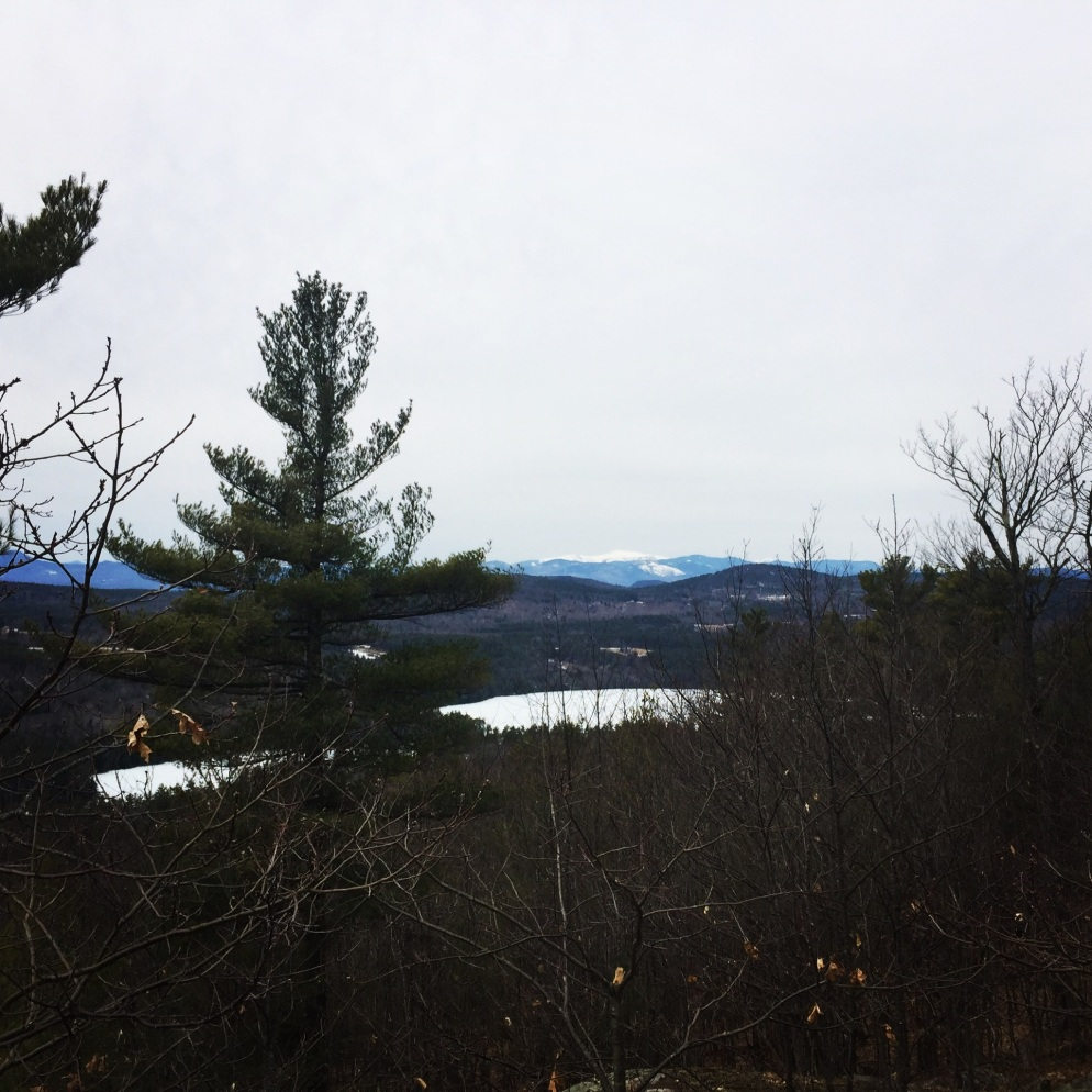 Mount Washington and the Whites from Hawk Mountain, Waterford, ME