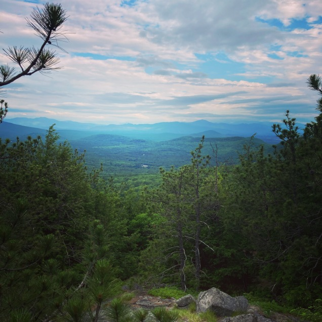 Descending from North Peak via the Twin Brook Trail, Burnt Meadow Mountain, Brownfield, ME